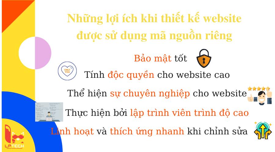 Lợi ích khi thiết kế website sử dụng mã nguồn riêng
