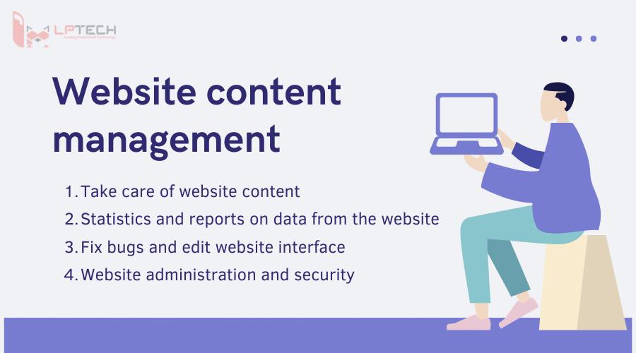 website content management