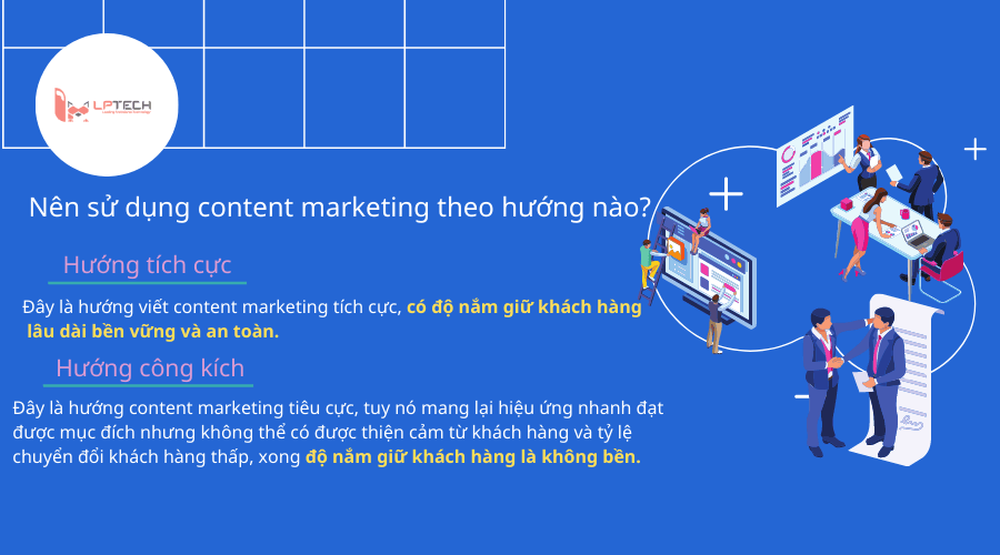 nên sử dụng content marketing theo hướng nào