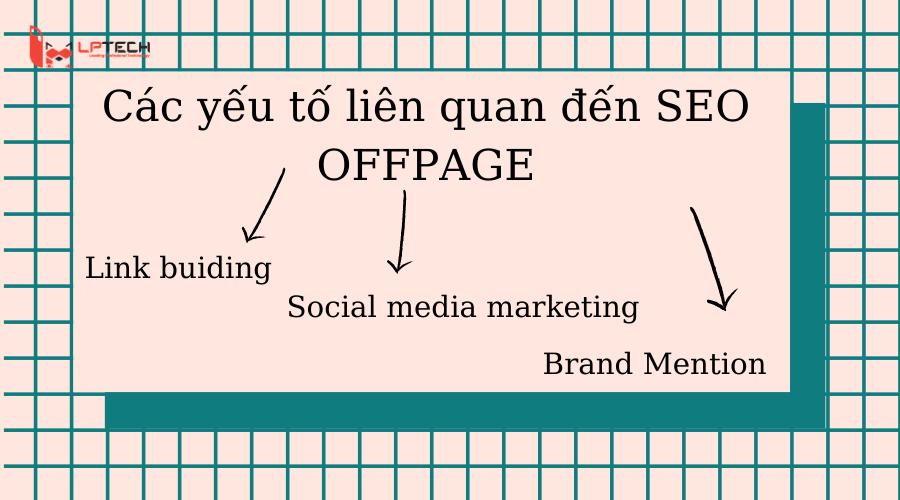 các yếu tố liên quan đến seo offpage