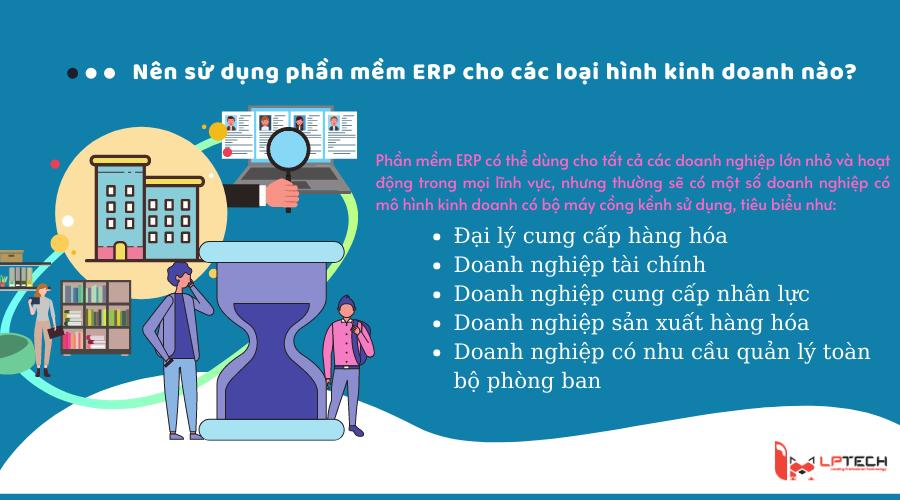 Nên sử dụng phần mềm ERP cho các loại hình kinh doanh nào ?