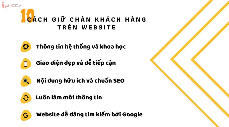 Làm để giữ chân khách hàng ở lại website?