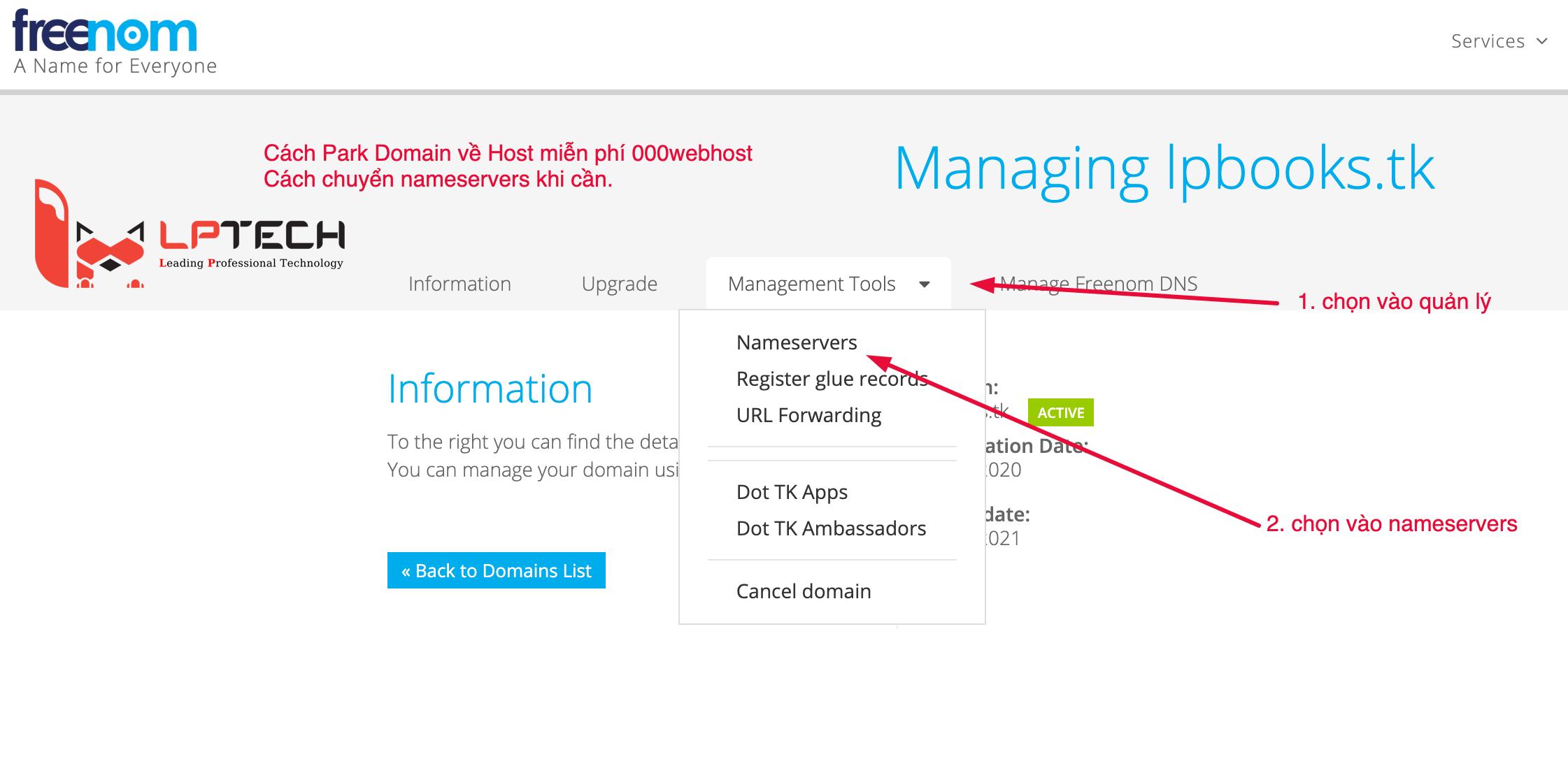 Thay đổi DNS Tiên miền về Hosting
