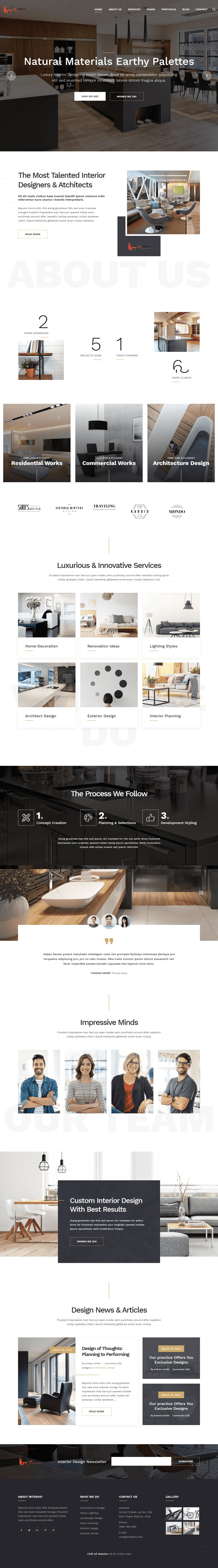 Mẫu thiết kế website showroom bán hàng nội thất, bàn ghế sofaking
