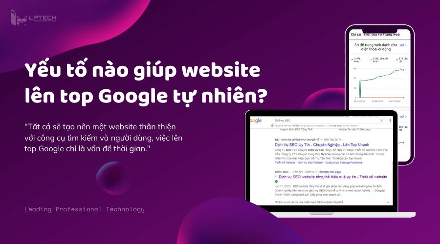 Những yếu tố nào giúp website lên top Google tự nhiên?