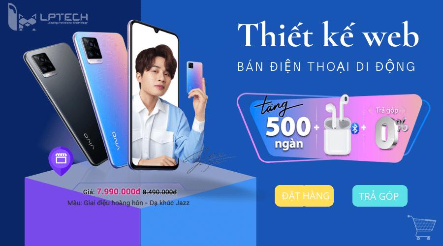 Thiết kế web bán điện thoại di động uy tín tại Hồ Chí Minh