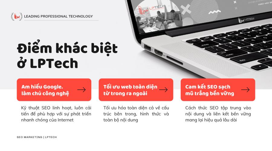 Điểm khác biệt của dịch vụ SEO tại Hà Nội LPTech