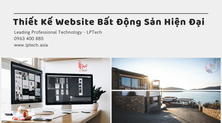 Thiết kế website bất động sản hiện đại
