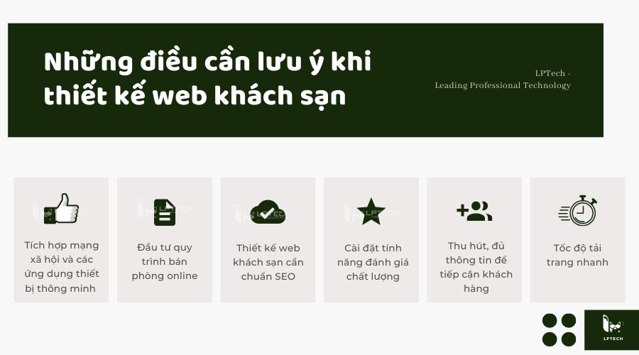 Lưu ý khi thiết kế website khách sạn