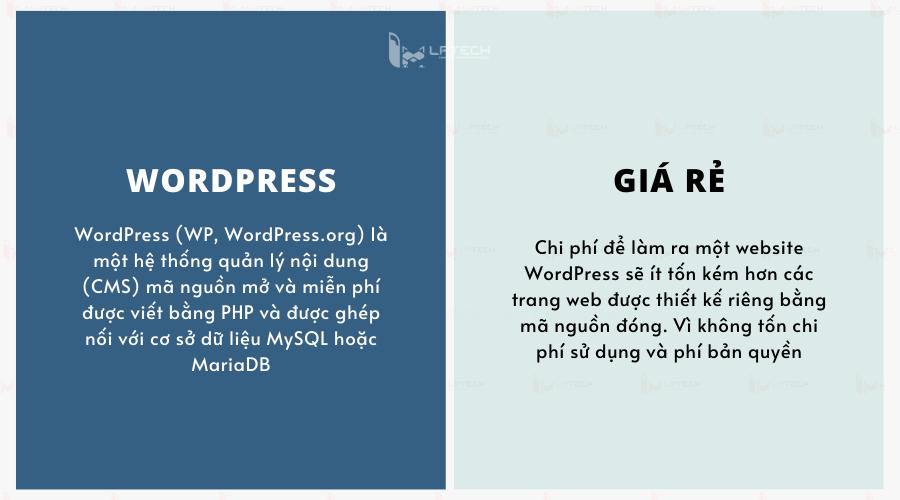 Thiết kế website giá rẻ wordpress là gì?