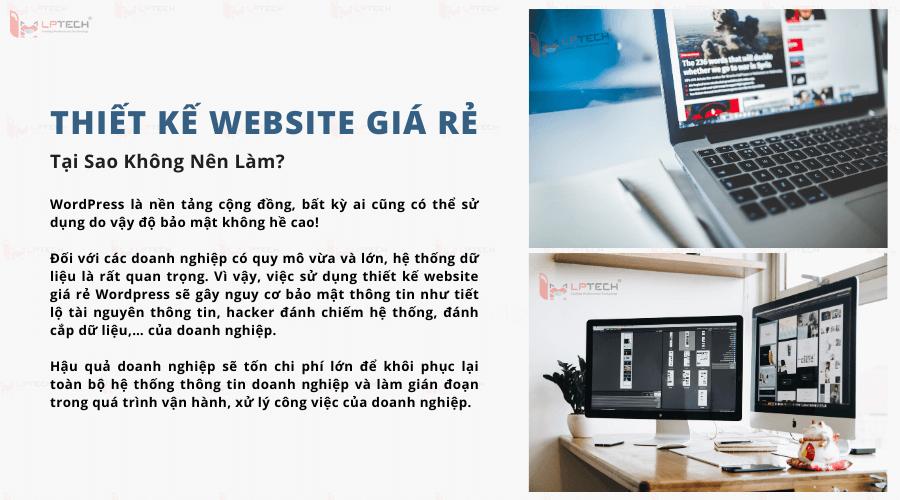 Tại sao không nên thiết kế website giá rẻ wordpress?