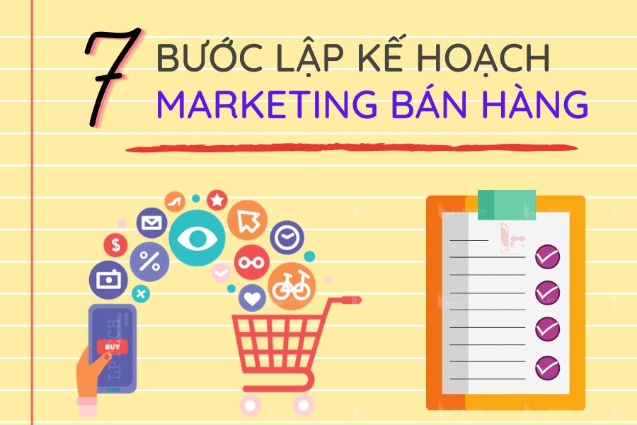 7 Bước lập kế hoạch marketing bán hàng tăng hiệu quả trong kinh doanh