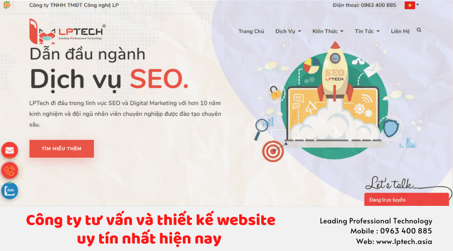 Công ty thiết kế website LPTech