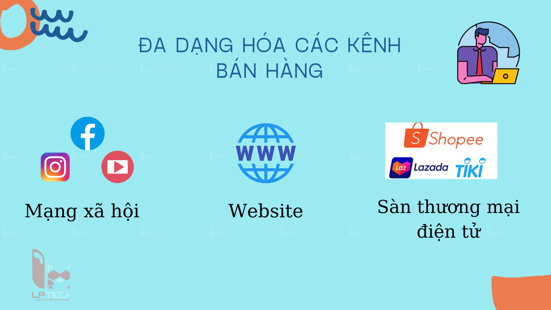 Đa dạng hóa kênh bán hàng online