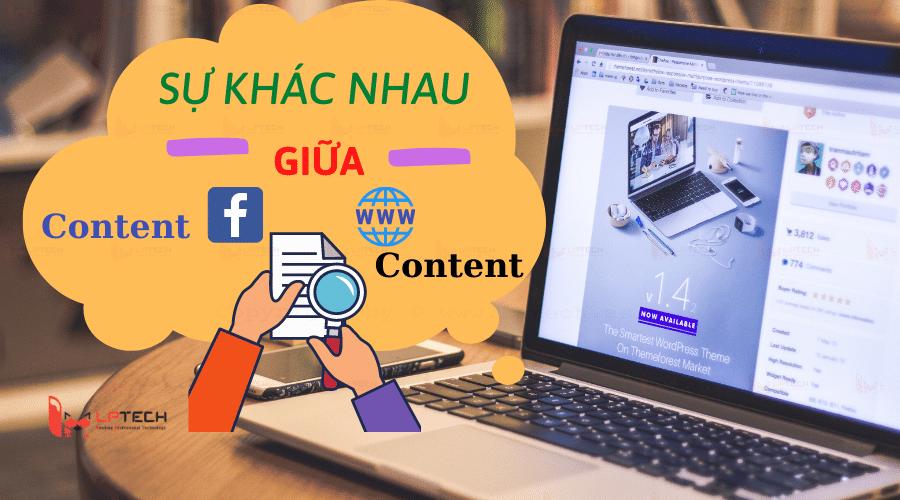 content facebook và content website