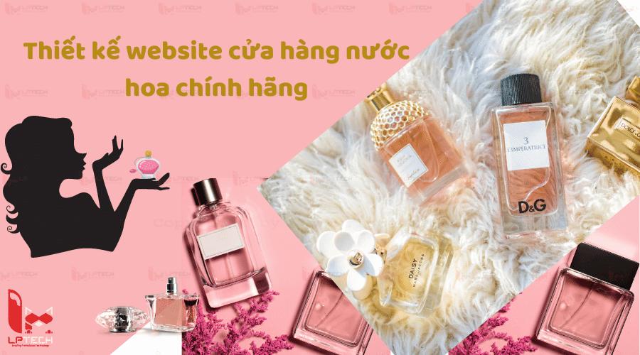 Thiết kế website cửa hàng nước hoa chính hãng