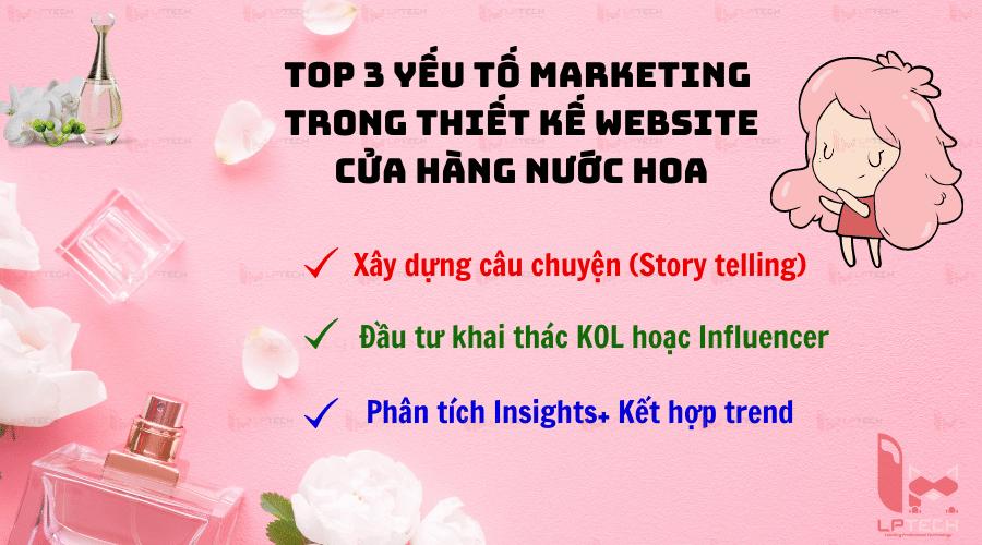 Top 3 yếu tố marketing cần có trong thiết kế website cửa hàng nước hoa chính hãng