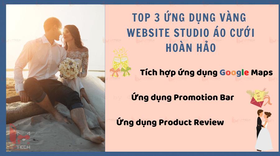 3 ứng dụng vàng không thể thiếu trong thiết kế website studio áo cưới hoàn hảo