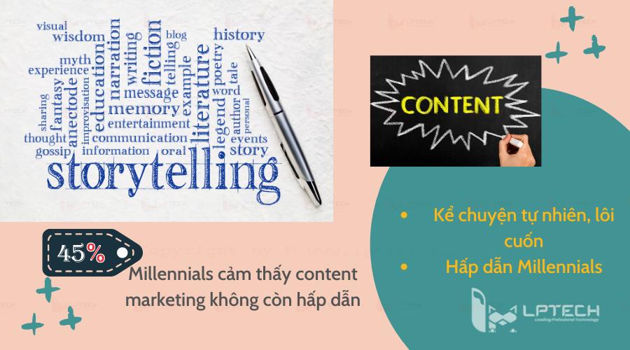 Sử dụng content storytelling tiếp cận Millennials