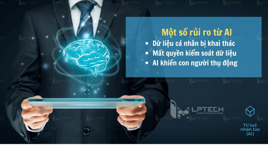 Một số rủi ro của trí tuệ nhân tạo