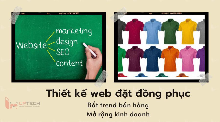 Tầm quan trọng khi thiết kế web đặt đồng phục