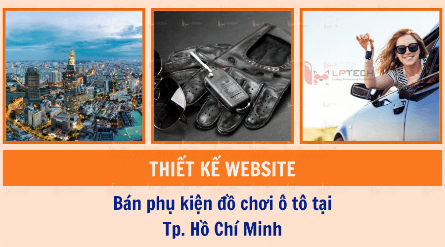Thiết kế website bán phụ kiện đồ chơi ô tô tại Tp.HCM