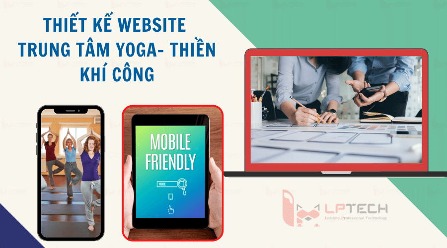 Thiết kế web trung tâm Yoga - Thiền - Khí công