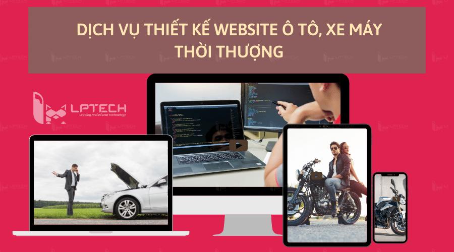 Dịch vụ thiết kế website ô tô, xe máy thời thượng