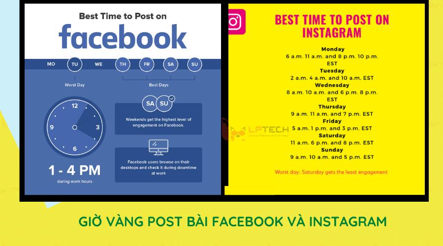 Giờ vàng post bài Facebook và Instagram
