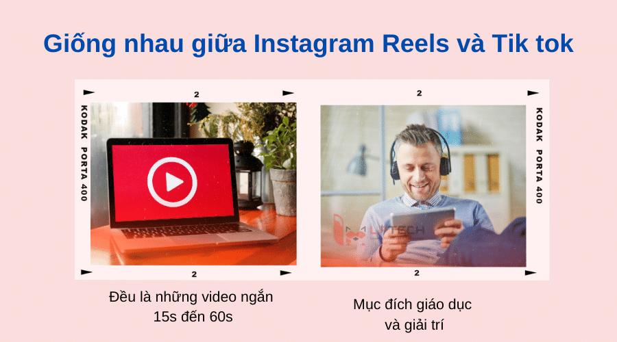 So sánh Instagram Reel và Tik tok