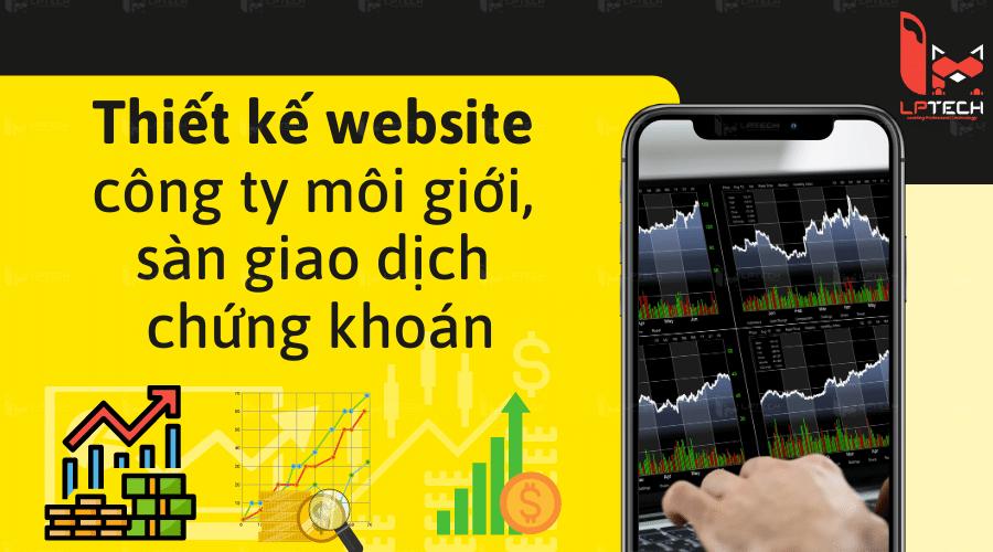 Thiết kế website công ty - sàn giao dịch chứng khoán