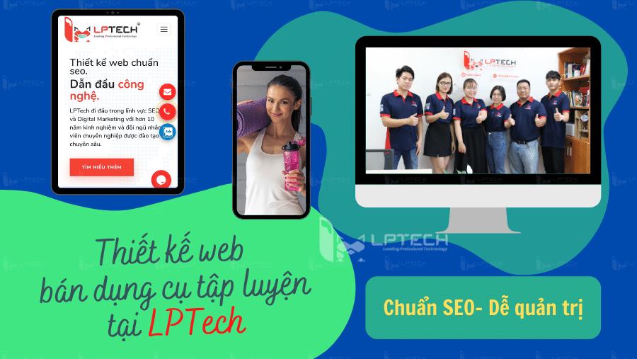 Dịch vụ thiết kế website bán đồ thể thao dụng cụ tập luyện tại LPTech