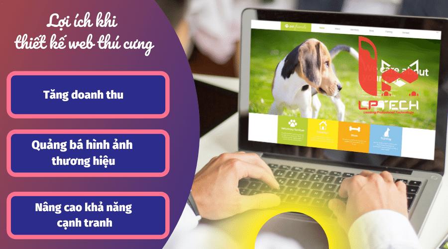Thiết kế web thú cưng, phụ kiện thú cưng đột phá trong kinh doanh