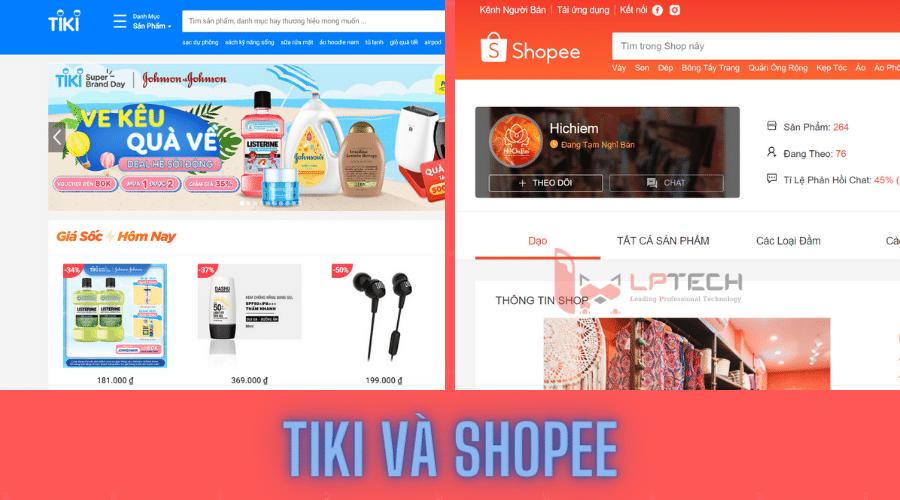Tiki và shopee