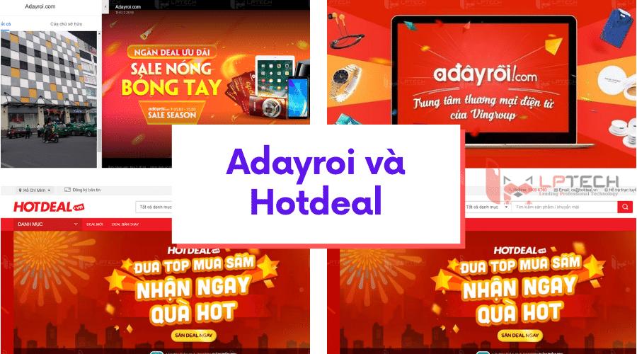 Adayroi và Hotdeal