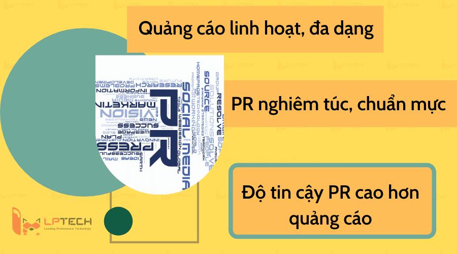 Khác biệt PR và quảng cáo trong phong cách viết và độ tin cậy
