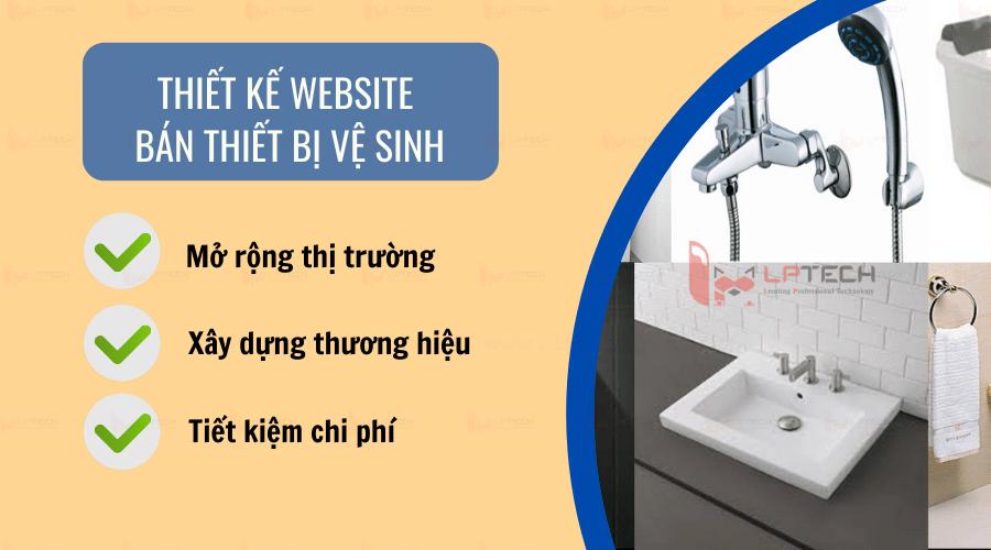 Lợi ích của thiết kế website bán thiết bị vệ sinh