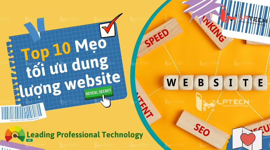 10 cách tối ưu dung lượng cho website