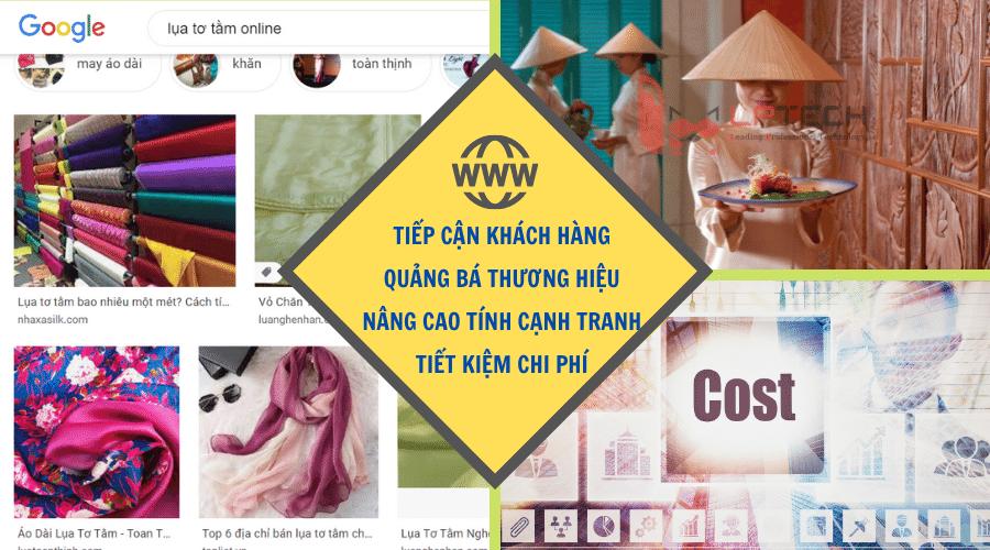 Lợi ích khi thiết kế web kinh doanh lụa tơ tằm