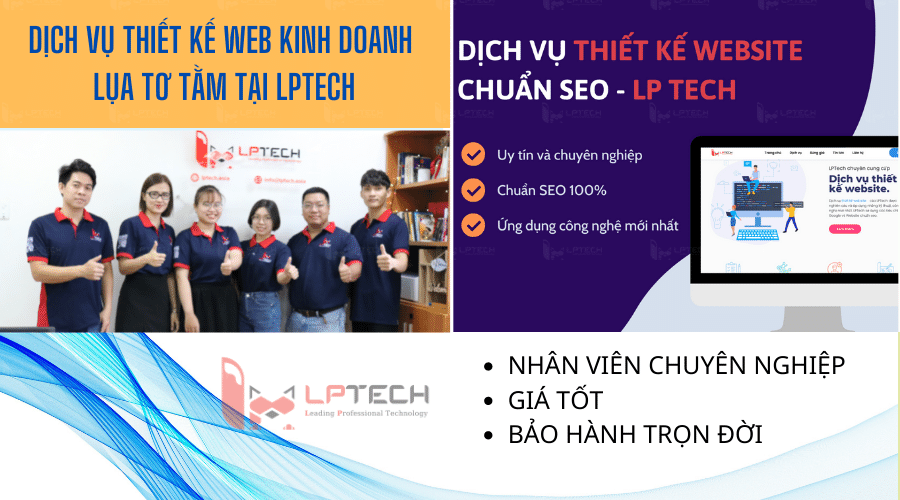 Dịch vụ thiết kế web kinh doanh lụa tơ tằm tại LPTech