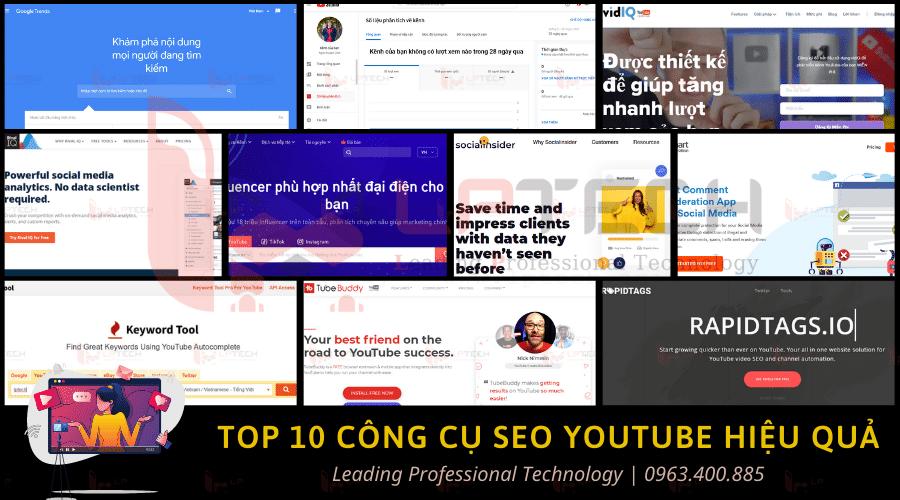 Top 10 công cụ SEO Youtube hiệu quả