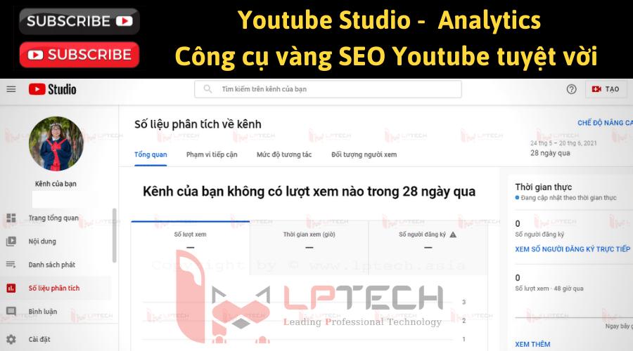 Youtube Analytics trong Studio