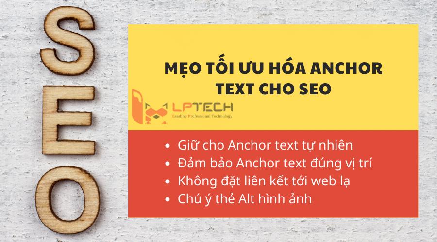 Mẹo tối ưu hóa Anchor text cho SEO