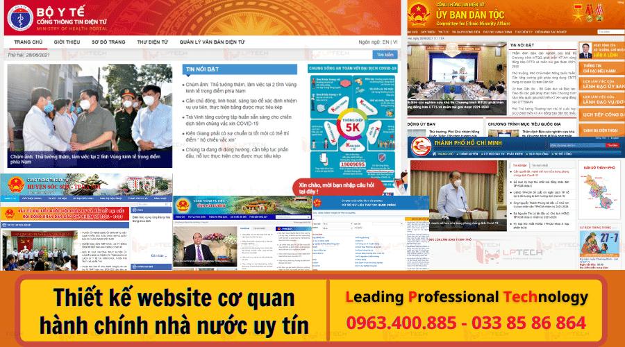 Thiết kế website cơ quan hành chính nhà nước uy tín