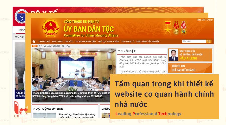 Tầm quan trọng khi thiết kế website cơ quan hành chính nhà nước