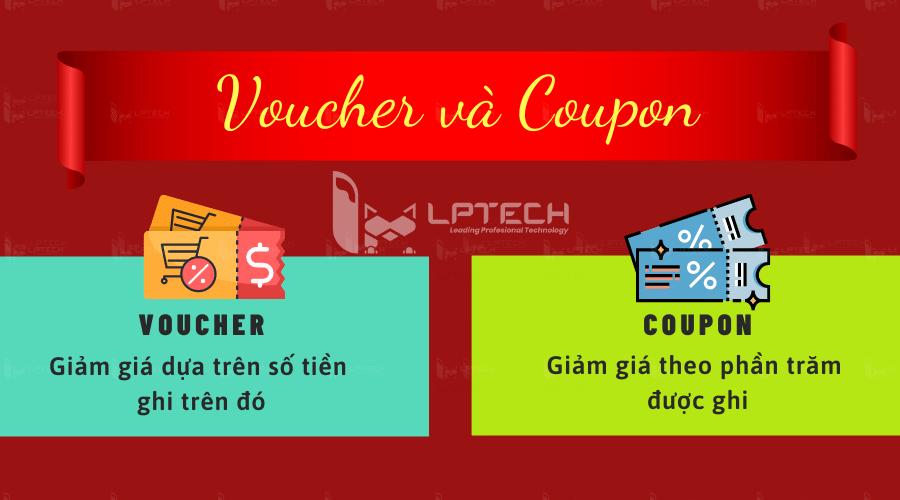 Khác biệt giữa Voucher và Coupon