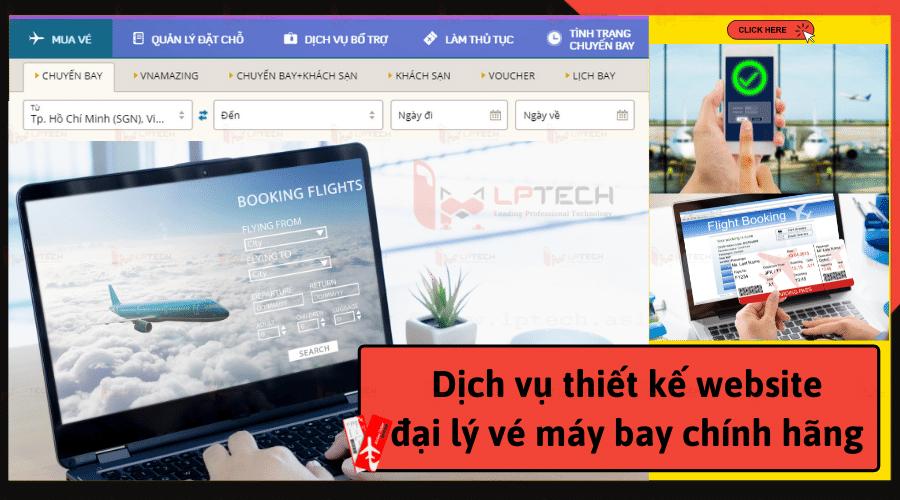 Dịch vụ thiết kế website đại lý bán vé máy bay chính hãng
