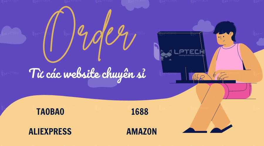 Order từ các website chuyên sỉ