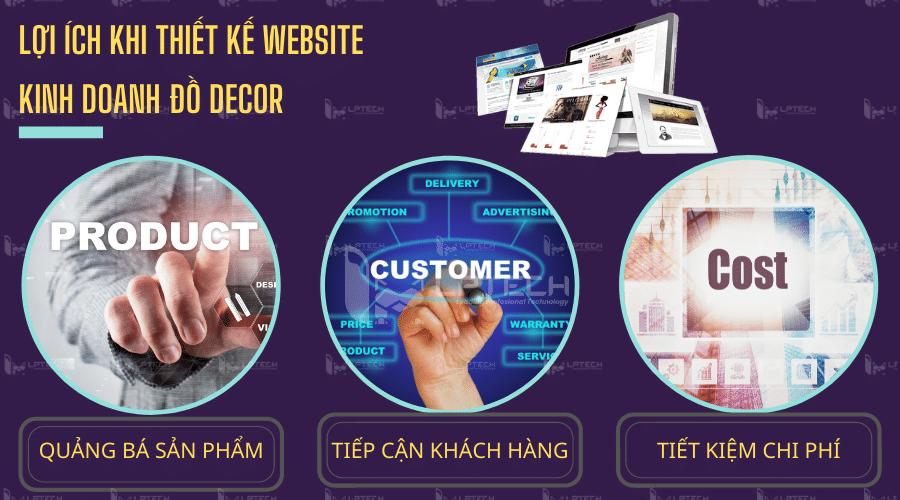 Những lợi ích khi thiết kế website kinh doanh đồ Decor