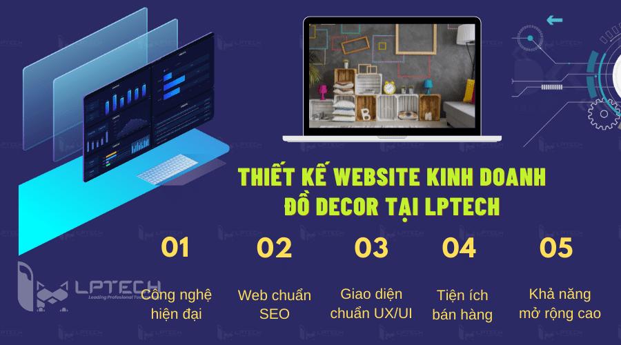 Dịch vụ thiết kế website kinh doanh đồ Decor tại LPTech